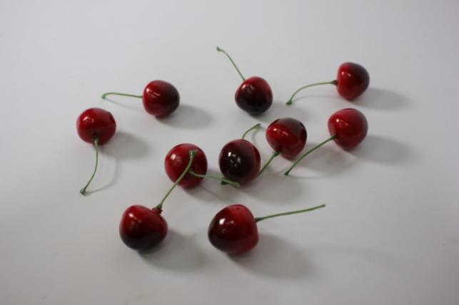 искусственные фрукты - черешня 3см (10шт)