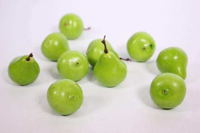 Искусственные фрукты - Груша зеленая 3см (10шт)