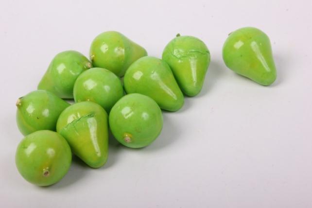 Искусственные фрукты - Груши зелёные 2 см (10 шт в уп)