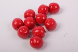 Искусственные фрукты - Вишни 2 см (10 шт в уп)
