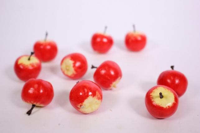 искусственные фрукты - яблоки красные 4см (10шт)