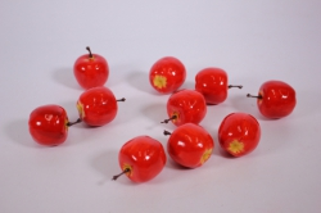 искусственные фрукты - яблоки оранжевые 4см (упаковка 10 шт)