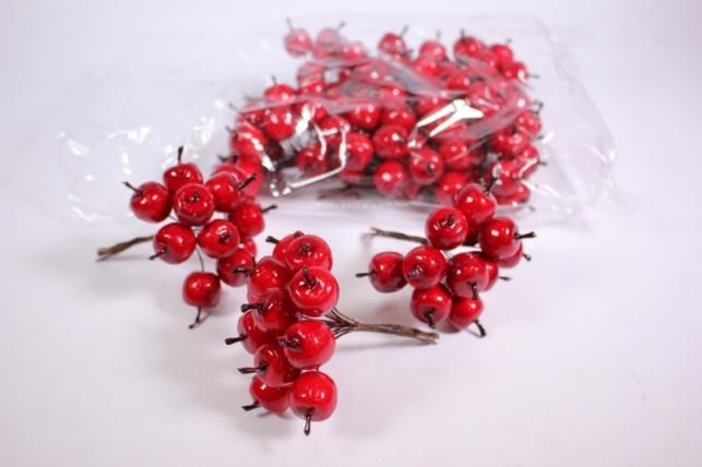 искусственные фрукты - яблоки пластиковые красные 1,5см (144шт в уп) sm8881