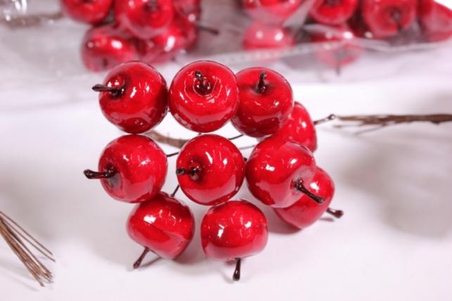 Искусственные фрукты - Яблоки пластиковые красные 2см (120шт в уп) SM2284 RED