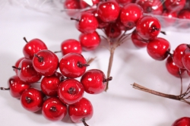 искусственные фрукты - яблоки пластиковые красные 2см (144шт в уп) sm1153