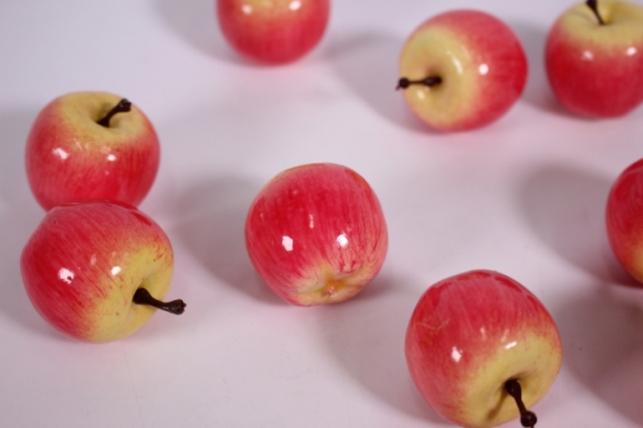 искусственные фрукты - яблоки розовые 4см (упаковка 10 шт)