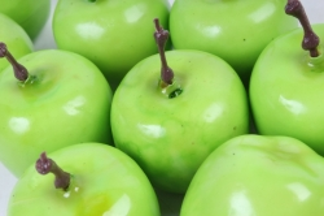 Искусственные фрукты - Яблоки зеленые 4см (10шт)