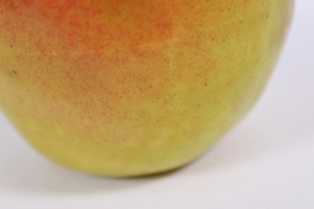 искусственные фрукты - яблоко антоновка 9 см