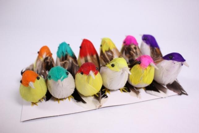 Искусственные Птички (12шт в уп)  Н15АР358 (Код 4857)
