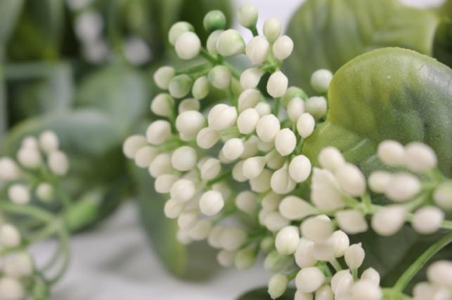 искусственные растения - 0350 ветка белая 33см (10шт в уп)