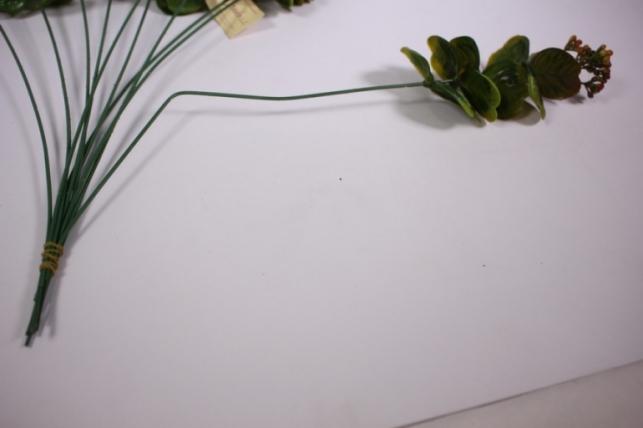 искусственные растения - 0381 ветка терракотовая 33см (10шт в уп)