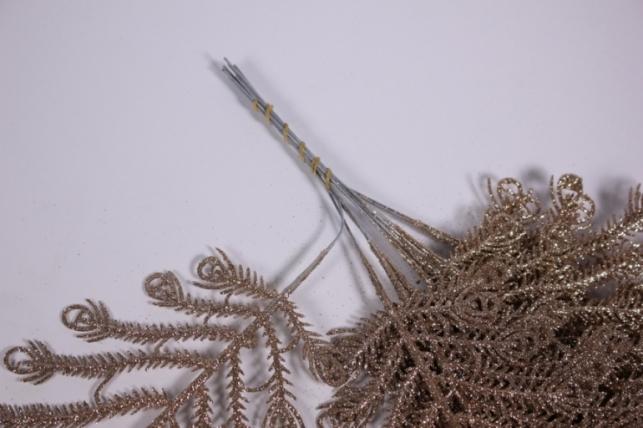 искусственные растения - 0464 ветка золото 33см (10шт в уп)