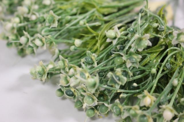 искусственные растения - 1018 ветка с ягодками 25см (6шт в уп)