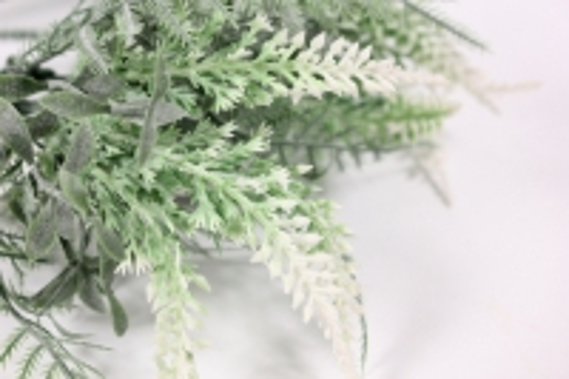 искусственные растения - 3335 вероника белая 21см (5шт в уп)
