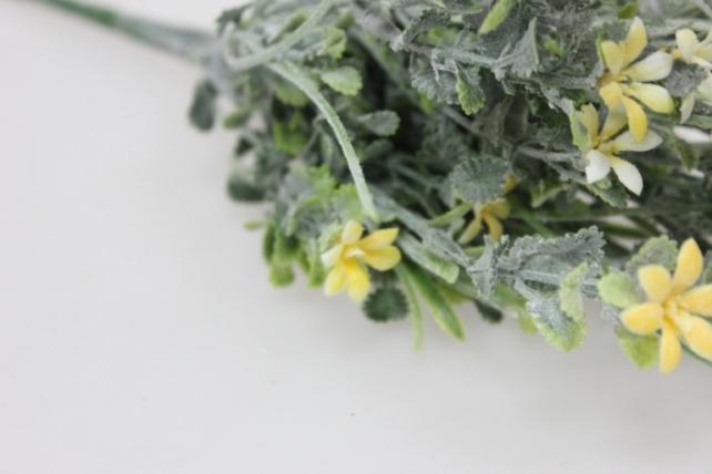 искусственные растения - 4909 букет серебристо-желтый с-1324м