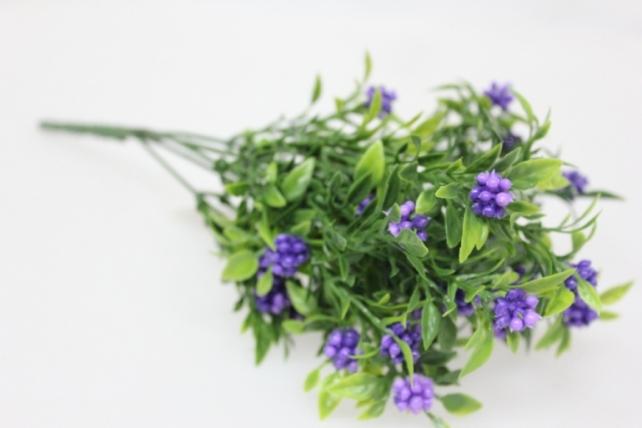 искусственные растения - 5382 вербена (белая, голубая) с-1287