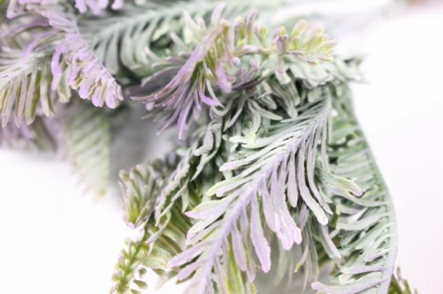 искусственные растения - 7177 папортник сиреневый 25см (6шт в уп)
