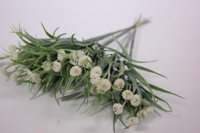 Искусственные растения - 7214 Ветка бело/салатовая (6шт в уп)