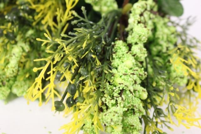 искусственные растения - 7439 ветка салатовая 33см (6шт в уп)