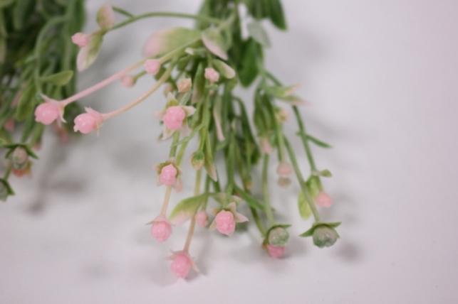 искусственные растения - 7603 ветка белая/розов/желт/бордо 25см (6шт в уп)