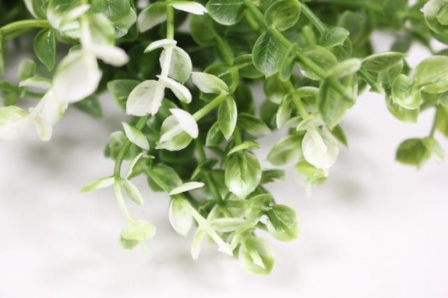 искусственные растения - 7610 ветка бело/салатовая (6шт в уп)