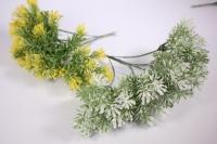Искусственные растения - 9742 Трава бело/зеленая 21см (6шт в уп)