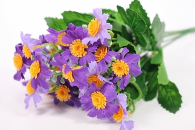 Искусственные растения - Бархотки мини фиолетовые L=30см