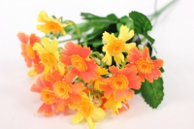 Искусственные растения - Бархотки мини желто-оранжевые L=30см