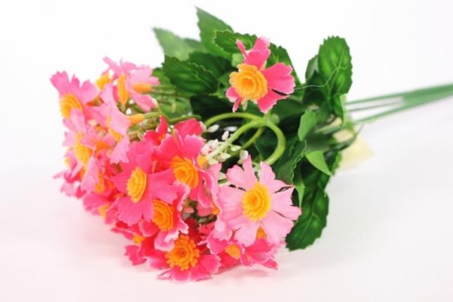 Искусственные растения - Бархотки мини розово-малиновые L=30см
