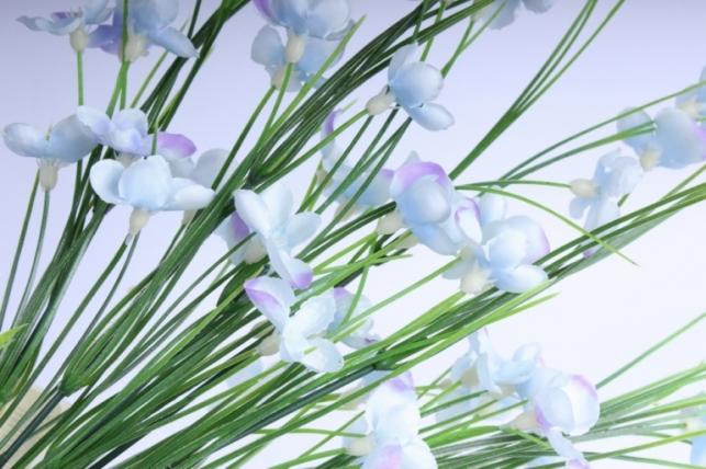 искусственные растения - букет цветов 40см голубой