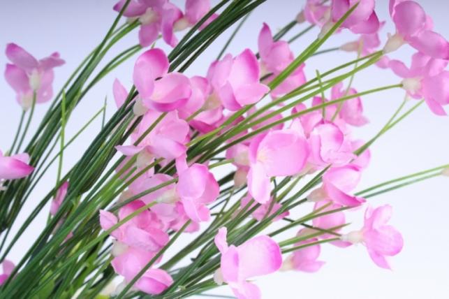 искусственные растения - букет цветов 40см розовый