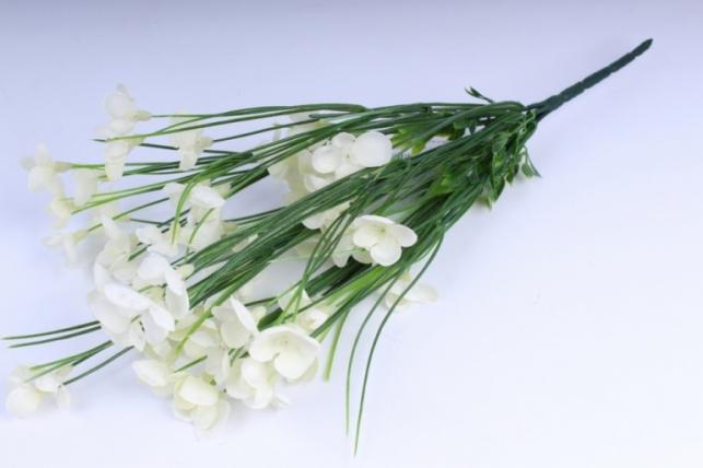 искусственные растения - букет цветов 40см шампань