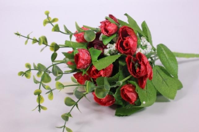 Искусственные растения - Букет декоративный бордо L=29см