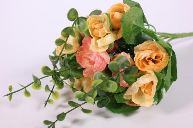 Искусственные растения - Букет декоративный персиковый L=29см