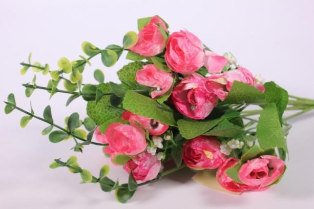 Искусственные растения - Букет декоративный розовый L=29см