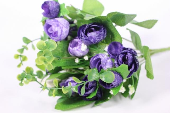 Искусственные растения - Букет декоративный сиреневый L=29см