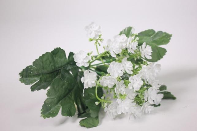 Искусственные растения - Цветочки мелкие белые 25см