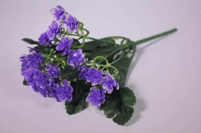 Искусственные растения - Цветочки мелкие фиолетовые 25см