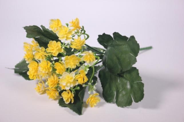 Искусственные растения - Цветочки мелкие желтые 25см