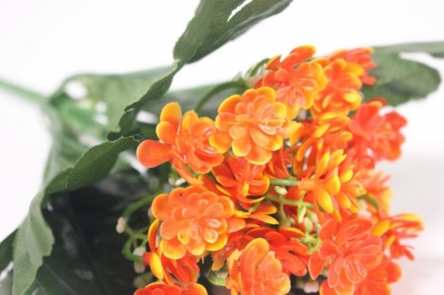 искусственные растения - цветочки мелкие оранжевые