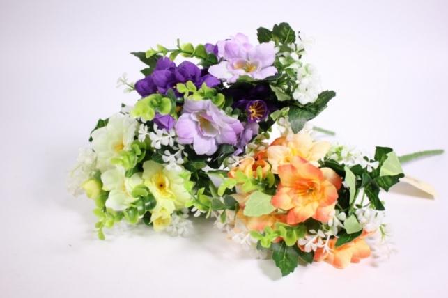 искусственные растения - цветы-веточка микс 25см  xd014 (код 7671)