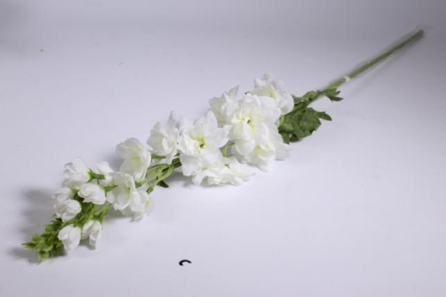 искусственные растения - дельфиниум 70см белый sun498