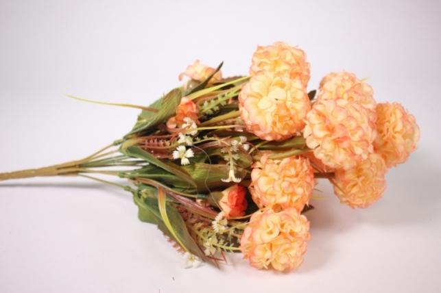 Искусственные растения - Гортензия желто-оранжевая 40см
