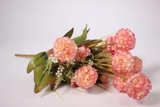 Искусственные растения - Гортензия персиковая 40см