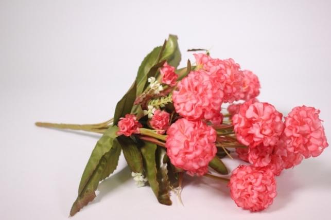 Искусственные растения - Гортензия розовая 40см
