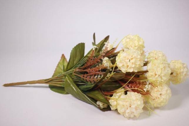 Искусственные растения - Гортензия шампань 40см