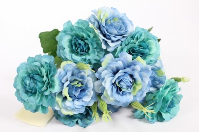 Искусственные растения - Камелия голубая L=35см