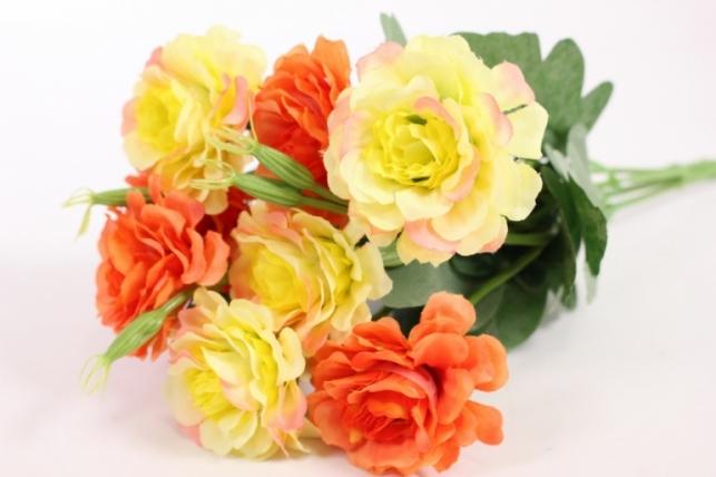 Искусственные растения - Камелия оранжево-желтая L=35см