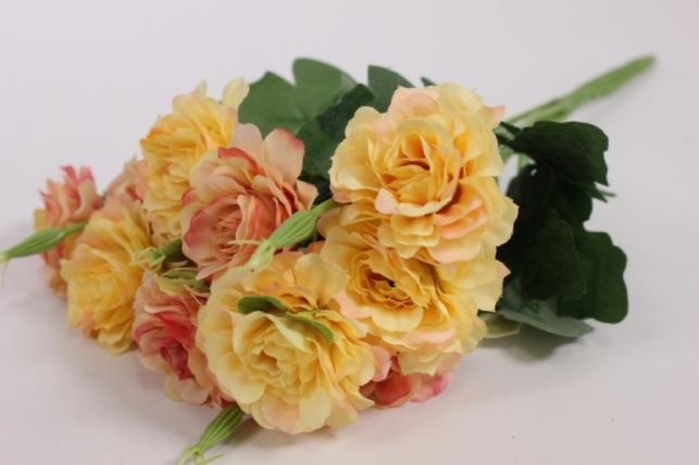 Искусственные растения - Камелия персиковая L=35см