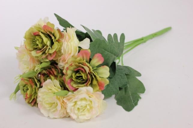 Искусственные растения - Камелия шампань/салатовая L=35см